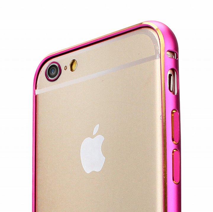 iPhone6 ケース Fantastick ネジなし軽量アルミバンパー ピンク iPhone 6 カメラリング付_0