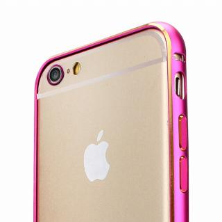 Fantastick ネジなし軽量アルミバンパー ピンク iPhone 6 カメラリング付
