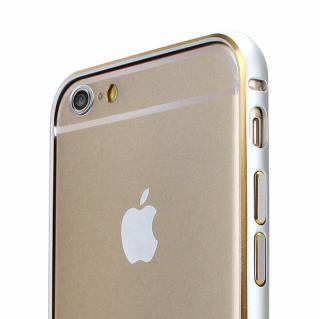 Fantastick ネジなし軽量アルミバンパー シルバー iPhone 6 Plus カメラリング付