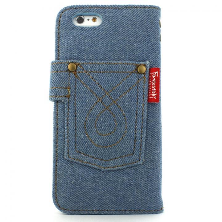 【iPhone6s/6ケース】デニム生地手帳型ケース ブルー iPhone 6s/6_0