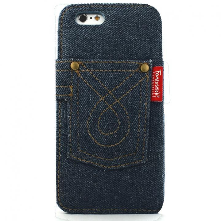 デニム生地手帳型ケース インディコ iPhone 6