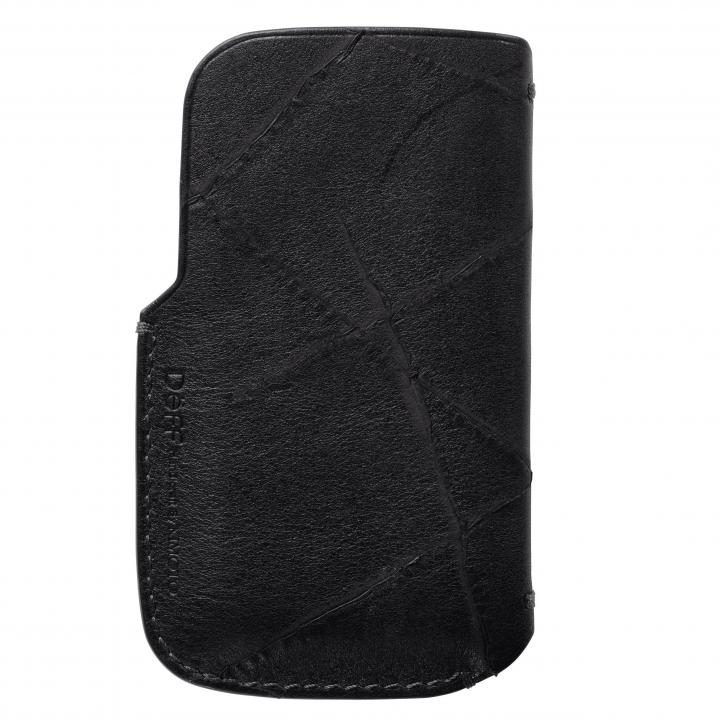 【iPhone SE/5s/5ケース】イタリア製高級レザーAcab iPhone4/4s/SE/5/5s/5c スレーブケース ブラック_0