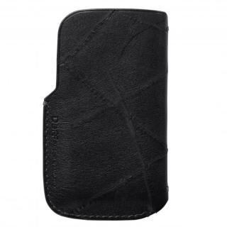 iPhone SE/その他の/iPod ケース イタリア製高級レザーAcab iPhone4/4s/SE/5/5s/5c スレーブケース ブラック