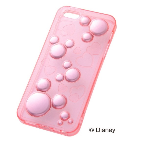 iPhone 5/5s用ディズニー・ラグジュアリー・ソフト/ミッキー・ピンク
