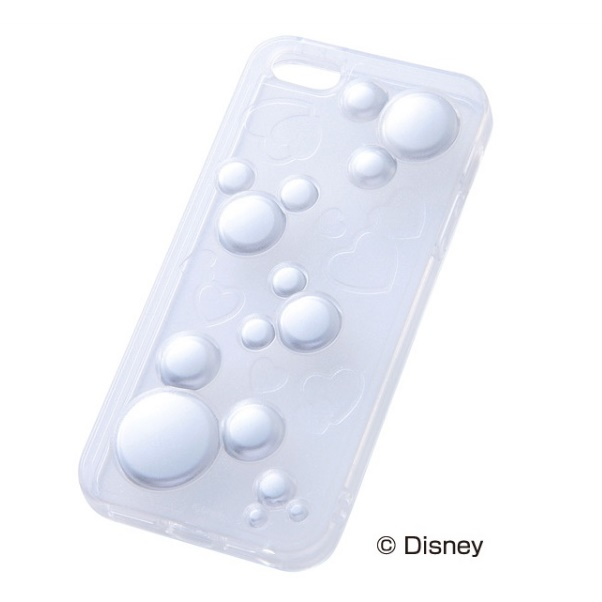 iPhone SE/5s/5 ケース ディズニー iPhone SE/5s/5用 ラグジュアリー・ソフトケース/ミッキー・クリア_0