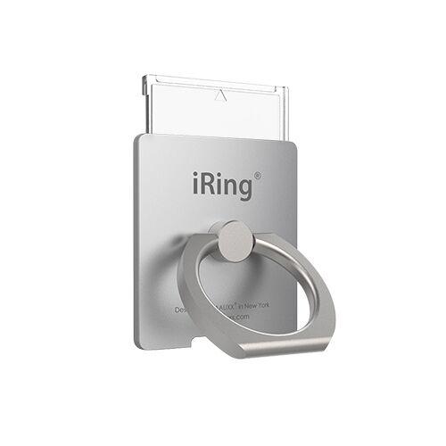 ワイヤレス充電対応 スマホリング iRing Link2 シルバー_0