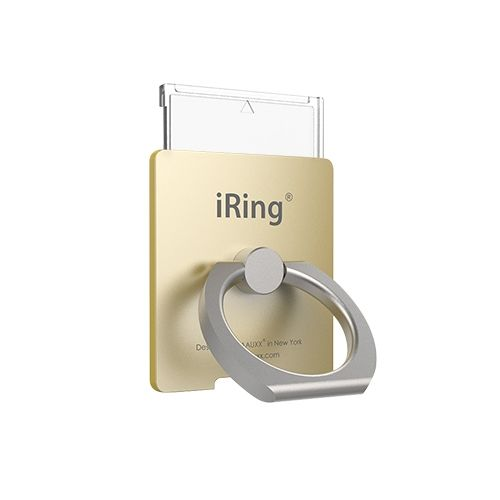 ワイヤレス充電対応 スマホリング iRing Link2 ゴールド【2月下旬】_0