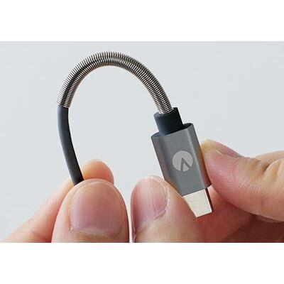INOVA スプリングケーブル USB A to USB Type-C ブラック_0