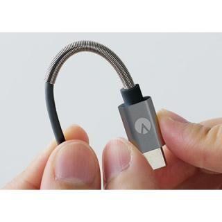 INOVA スプリングケーブル USB A to USB Type-C ブラック