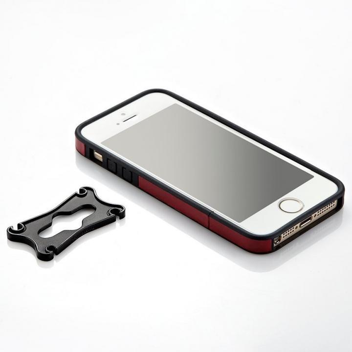 iPhone 5/5s用 PUレザーバンパーケース (レッド)