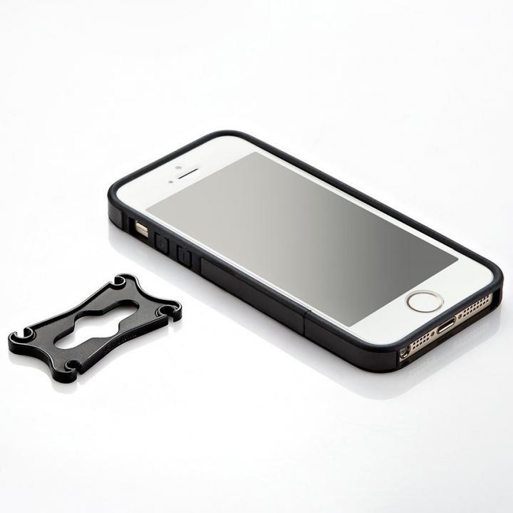 PUレザーバンパーケース ブラック iPhone SE/5s/5