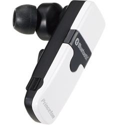 骨伝導機能搭載カナル型Bluetoothハンズフリーヘッドセット(ホワイト)