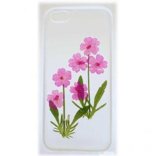 【iPhone SE/5s/5ケース】iPhone SE/5s/5用ケース 生花 バーベナ