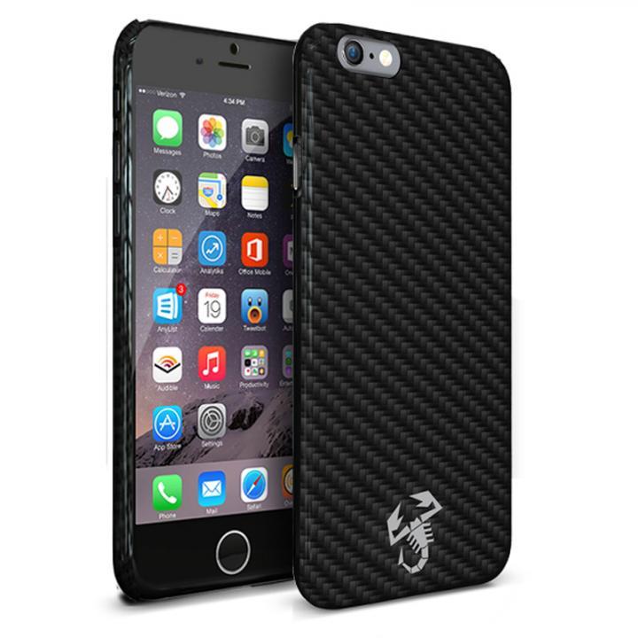 イタリア 名門チューナー「アバルト」社公認ハードケース カーボン iPhone 6