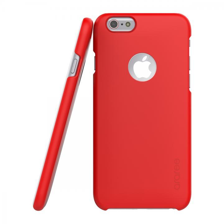 ICカード対応ケース araree VIEWTY レッド iPhone 6s/6