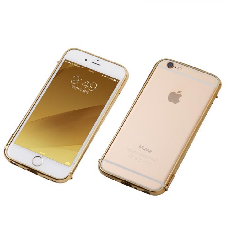 【iPhone6s/6ケース】Deff ステンレススチールバンパー Polish ゴールド iPhone 6s/6_0