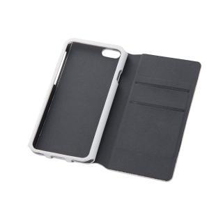 右開き 合皮カラフル手帳型ケース ホワイト iPhone 6