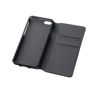 右開き 合皮カラフル手帳型ケース ブラック iPhone 6