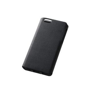 【iPhone6ケース】右開き 合皮カラフル手帳型ケース ブラック iPhone 6_1
