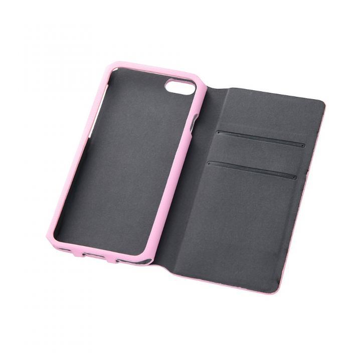 【iPhone6ケース】右開き 合皮カラフル手帳型ケース ピンク iPhone 6_0
