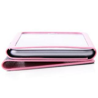 【iPhone6ケース】右開き 合皮カラフル手帳型ケース ピンク iPhone 6_5