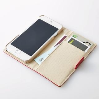 【iPhone6ケース】PUレザー/ファブリック手帳型ケース ネイビー iPhone 6ケース_3