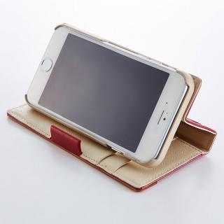【iPhone6ケース】PUレザー/ファブリック手帳型ケース ネイビー iPhone 6ケース_4