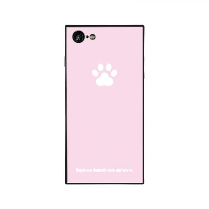 iPhone8/7 ケース anniv.(アニバーサリー) スクエア型 背面ガラスケース PAD PINK iPhone 8/7_0