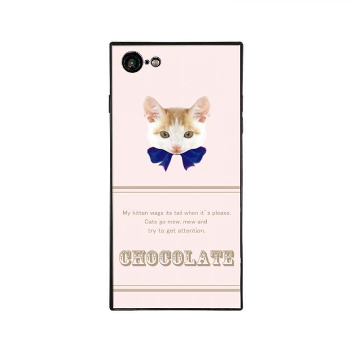 iPhone8/7 ケース anniv.(アニバーサリー) スクエア型 背面ガラスケース RIBBON BLUE iPhone 8/7_0