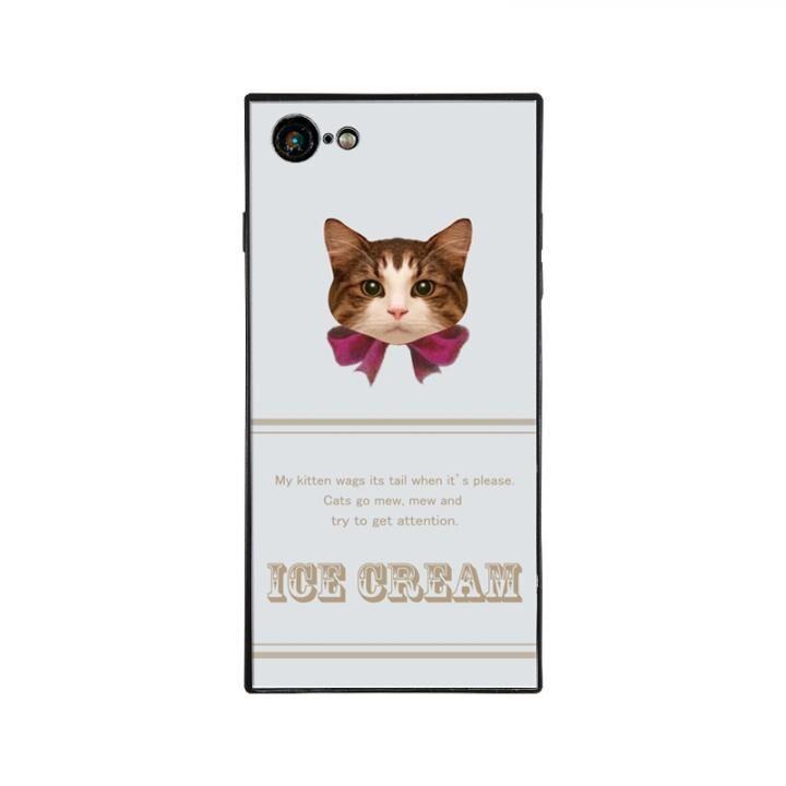 iPhone8/7 ケース anniv.(アニバーサリー) スクエア型 背面ガラスケース RIBBON PINK iPhone 8/7_0