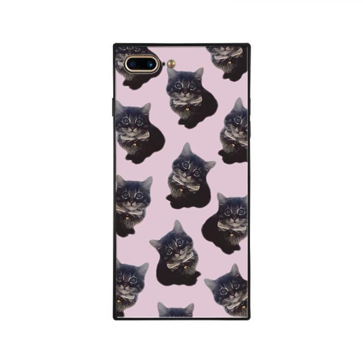 iPhone8 Plus/7 Plus ケース anniv.(アニバーサリー) スクエア型 背面ガラスケース KITTEN iPhone 8 Plus/7 Plus_0