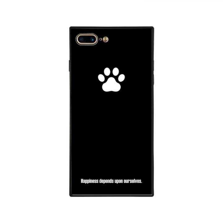 iPhone8 Plus/7 Plus ケース anniv.(アニバーサリー) スクエア型 背面ガラスケース PAD BLACK iPhone 8 Plus/7 Plus_0