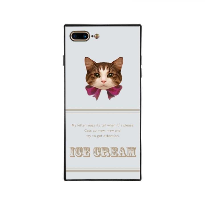 iPhone8 Plus/7 Plus ケース anniv.(アニバーサリー) スクエア型 背面ガラスケース RIBBON PINK iPhone 8 Plus/7 Plus_0