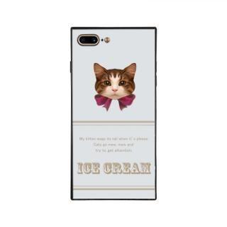iPhone8 Plus/7 Plus ケース anniv.(アニバーサリー) スクエア型 背面ガラスケース RIBBON PINK iPhone 8 Plus/7 Plus