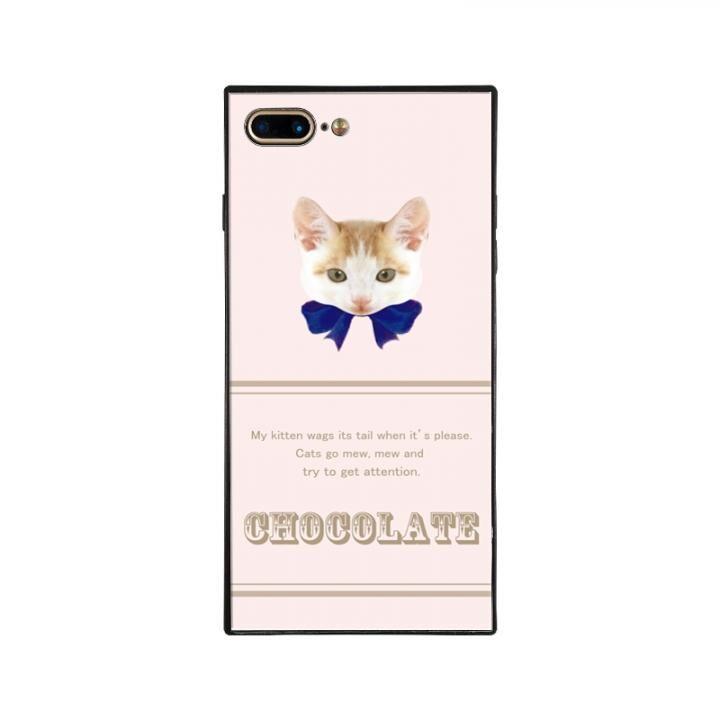 iPhone8 Plus/7 Plus ケース anniv.(アニバーサリー) スクエア型 背面ガラスケース RIBBON BLUE iPhone 8 Plus/7 Plus_0