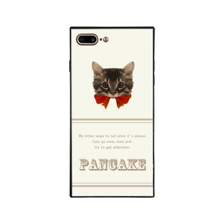 iPhone8 Plus/7 Plus ケース anniv.(アニバーサリー) スクエア型 背面ガラスケース RIBBON RED iPhone 8 Plus/7 Plus_0