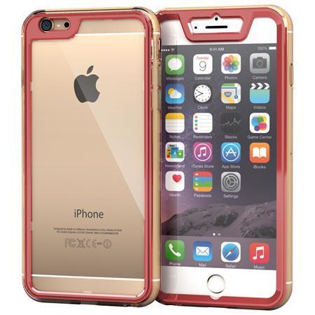 iPhone6 Plus ケース 全面保護クリアハイブリッドケース roocase Gelledge レッド iPhone 6 Plus_0