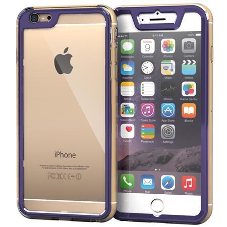iPhone6 Plus ケース 全面保護クリアハイブリッドケース roocase Gelledge パープル iPhone 6 Plus_0