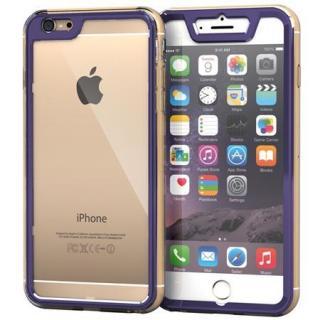 全面保護クリアハイブリッドケース roocase Gelledge パープル iPhone 6 Plus
