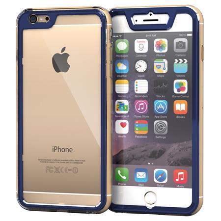 iPhone6 Plus ケース 全面保護クリアハイブリッドケース roocase Gelledge ネイビー iPhone 6 Plus_0