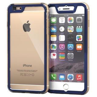 全面保護クリアハイブリッドケース roocase Gelledge ネイビー iPhone 6 Plus