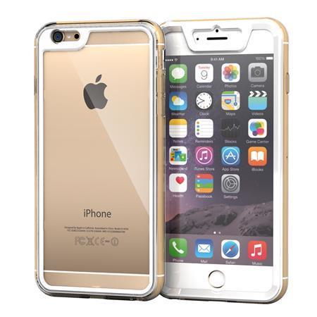 iPhone6 Plus ケース 全面保護クリアハイブリッドケース roocase Gelledge ホワイト iPhone 6 Plus_0