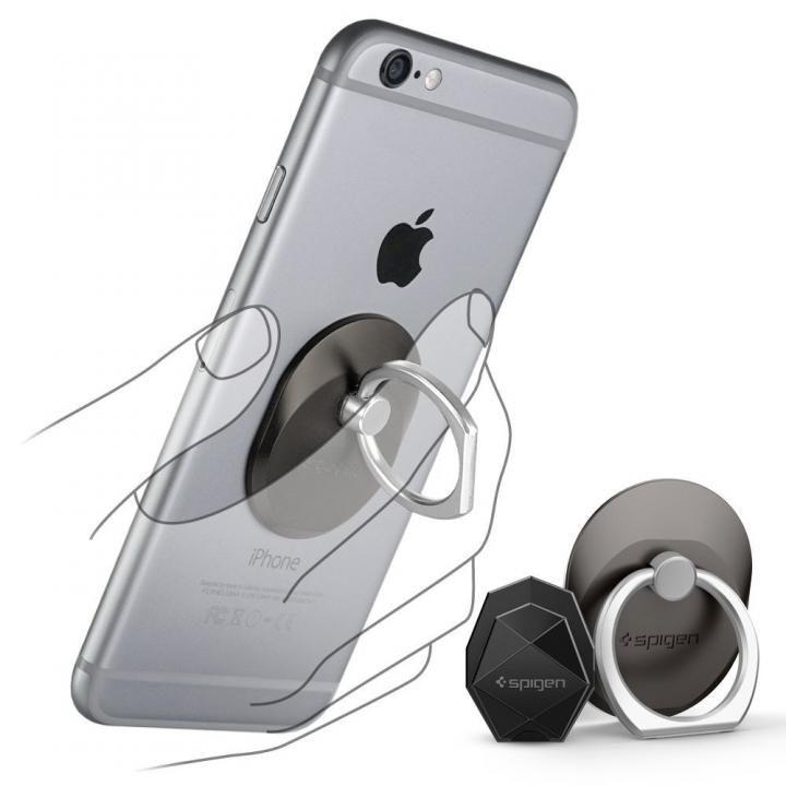Spigen Style Ring スマホリング 落下防止 スペースグレイ_0