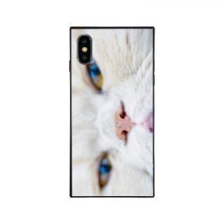 iPhone XS Max ケース anniv.(アニバーサリー) スクエア型 背面ガラスケース PRETTY NOSE iPhone XS Max