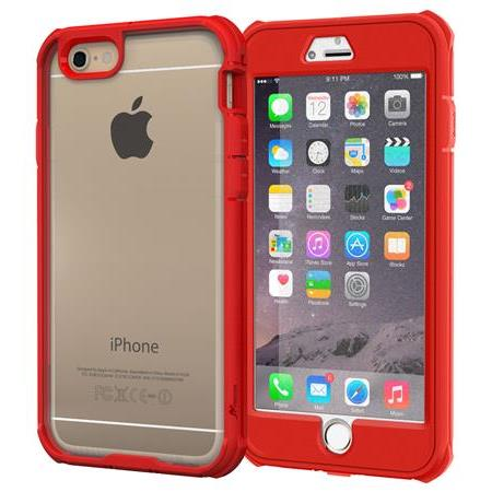 iPhone6 Plus ケース 耐衝撃全面保護 ハイブリッドケース roocase Gelledge レッド iPhone 6 Plus_0