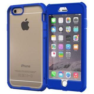 耐衝撃全面保護 ハイブリッドケース roocase Gelledge ブルー iPhone 6 Plus