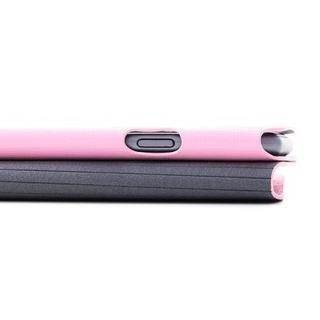 【iPhone6ケース】右開き 合皮カラフル手帳型ケース ピンク iPhone 6_7