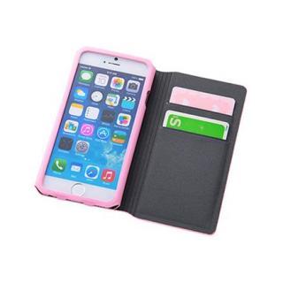 【iPhone6ケース】右開き 合皮カラフル手帳型ケース ピンク iPhone 6_8