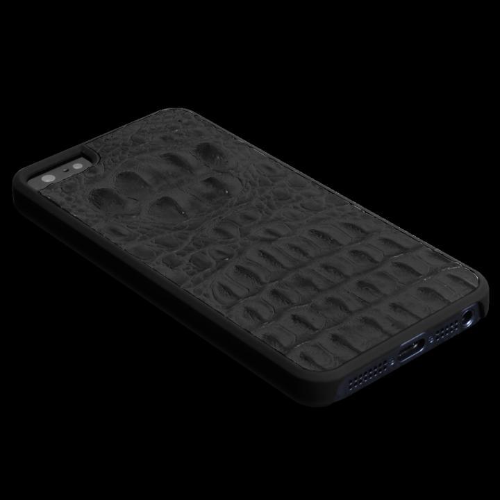 iPhone SE/5s/5 ケース 動物皮モンスターケース Vcoer Monster-Crocodile ブラック iPhone 5s/5ケース_0