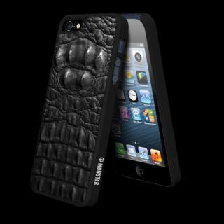 【iPhone SE/5s/5ケース】動物皮モンスターケース Vcoer Monster-Crocodile ブラック iPhone 5s/5ケース_1